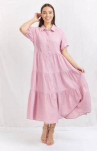 Lola Dress maxi dusty pink