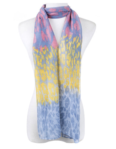 Scarf animal print yellow