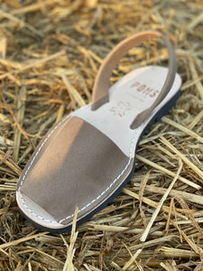 Leather Pons Shoes - TAUPE