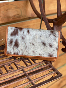 New York cowhide wallet tan