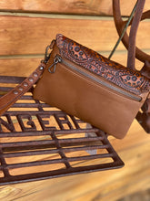 Western bag tooled and tassel clutch