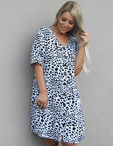 Baby doll animal print Dress