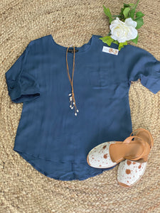 Lori top blue