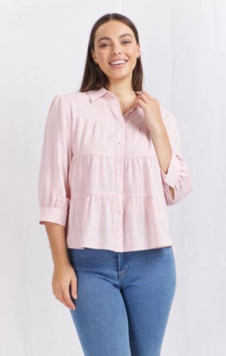 Gemma Layered pale pink top
