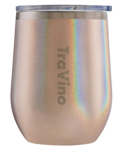 STEMLESS GLITTER IRIDESCENT INSULATED WINE TUMBLER