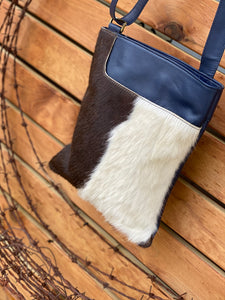 Florence Cowhide Bag Navy