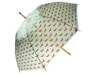 dachshund umbrella ☔️ red