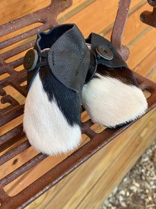 Baby cowhide booties