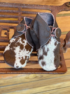 Cowhide baby booties