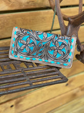 Tooled western wallet