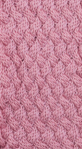 Scarf snood knit pink