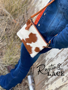 Cowhide clutch/bag Toronto BC Tan