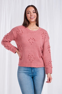 Pom Pom Dusty Pink knit