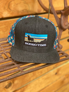 Dale Brisby 'RODEO TIME' Cap - Sunset Santa Fe Back/Black Denim