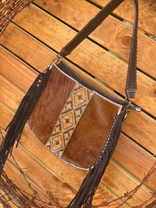 Trinity Ranch Hair-On Cowhide Collection Concealed Carry Hobo