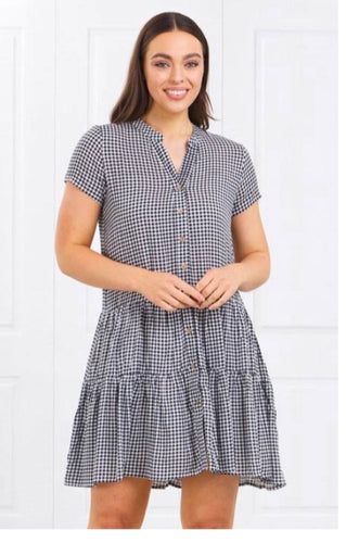 Gingham dress button down
