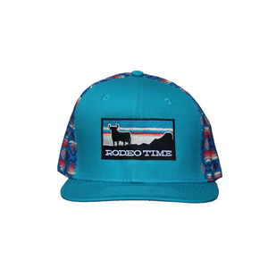Dale Brisby 'RODEO TIME' Cap - Sunset Santa Fe Back/Teal