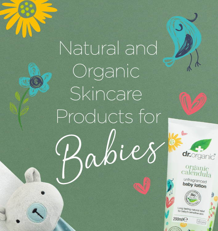 Natural and organic skincare products for babies