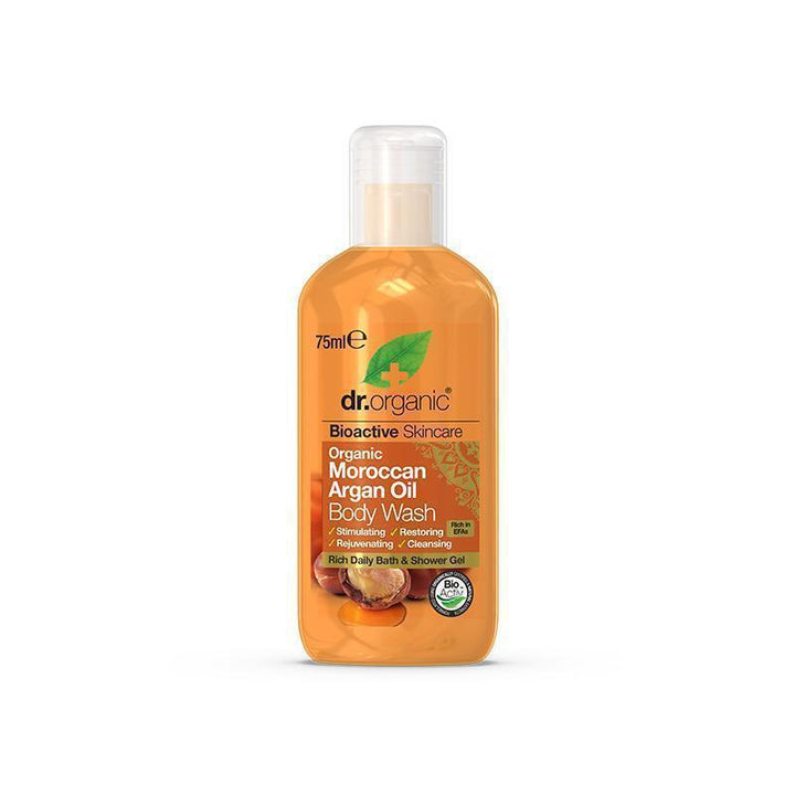 Moroccan Argan Oil Body Wash Travel Size 75ml - Dr Organic