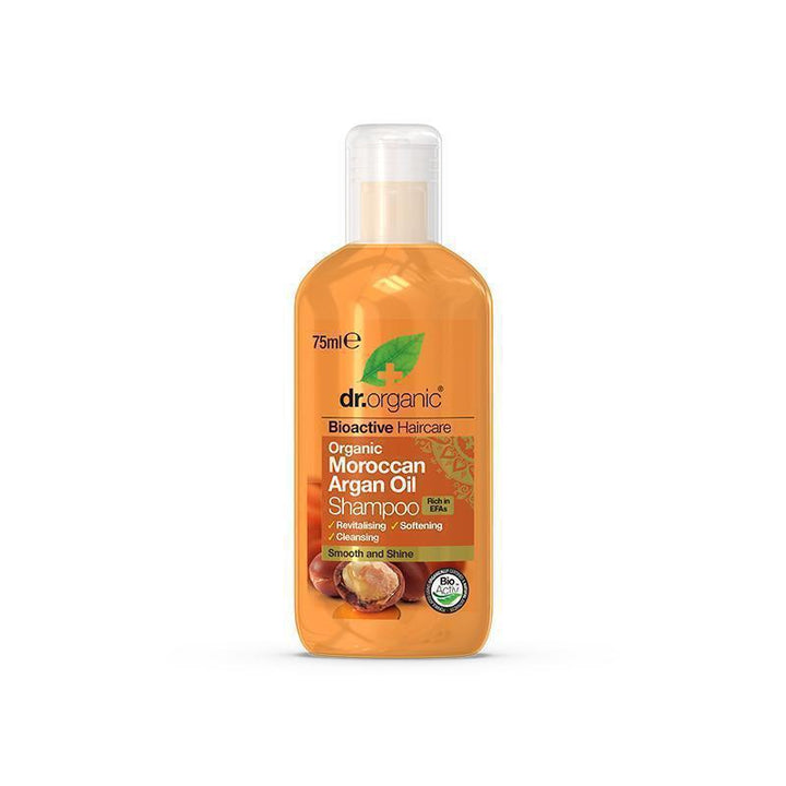 Moroccan Argan Oil Shampoo Travel Size 75ml - Dr Organic