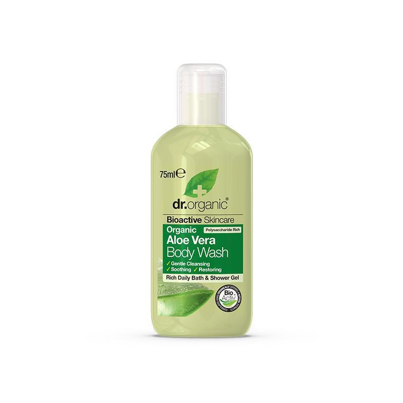 Aloe Vera Body Wash Travel Size 75ml - Dr Organic