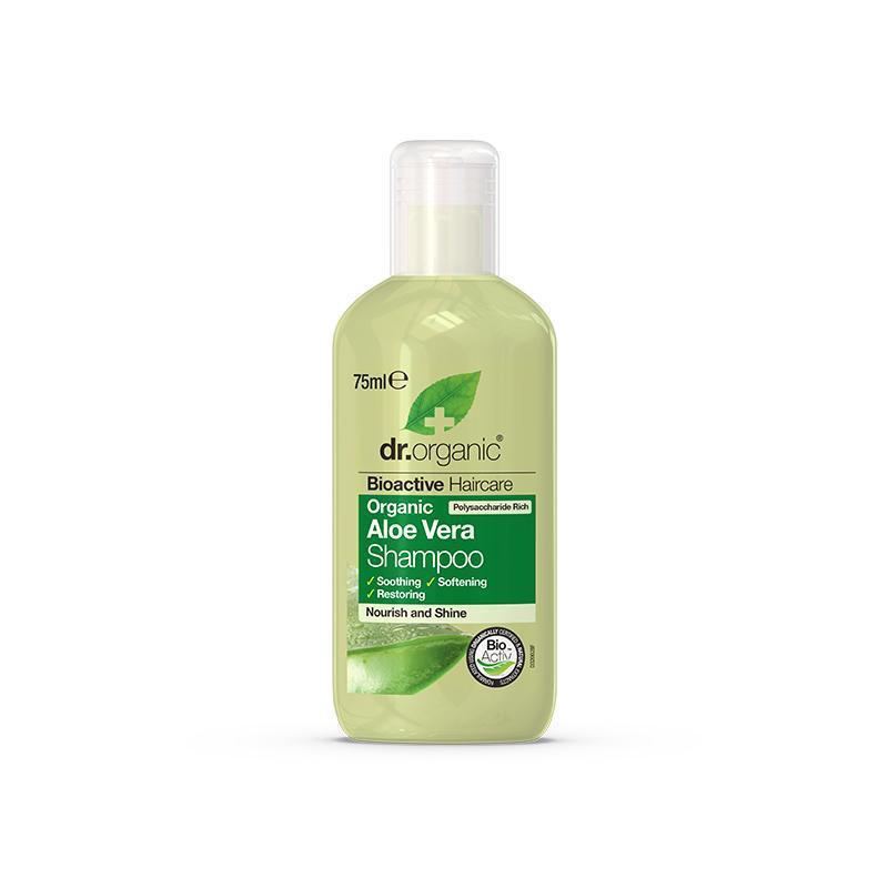 Aloe Vera Shampoo Travel Size 75ml - Dr Organic