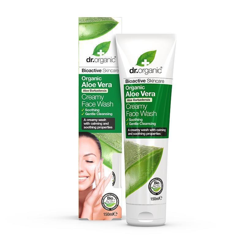 Aloe Vera Creamy Face Wash 150ml - Dr Organic