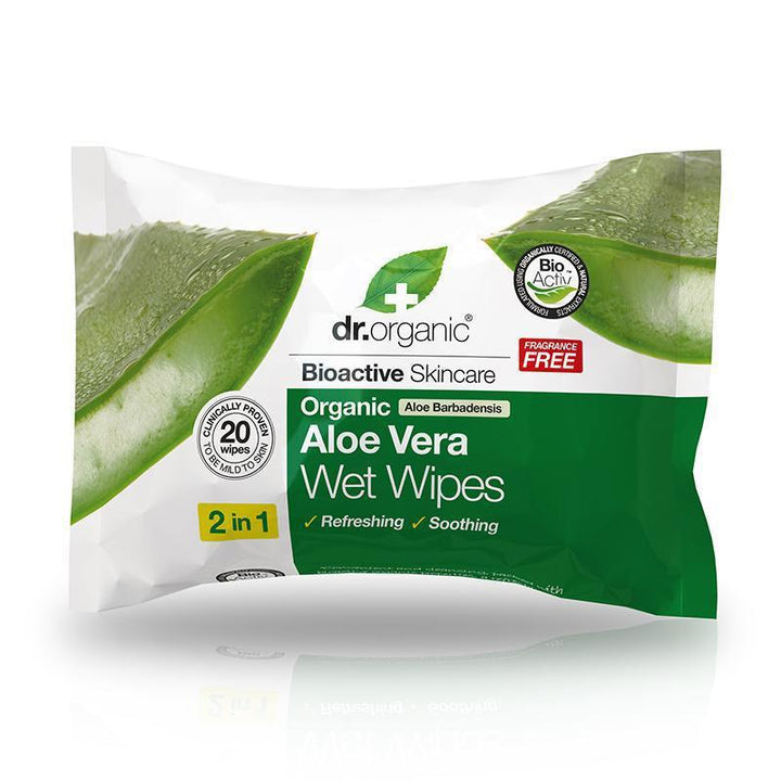 Aloe Vera Wet Wipes x 20 - Dr Organic