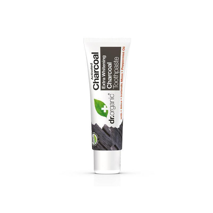 Charcoal Toothpaste Travel Size 20ml - Dr Organic