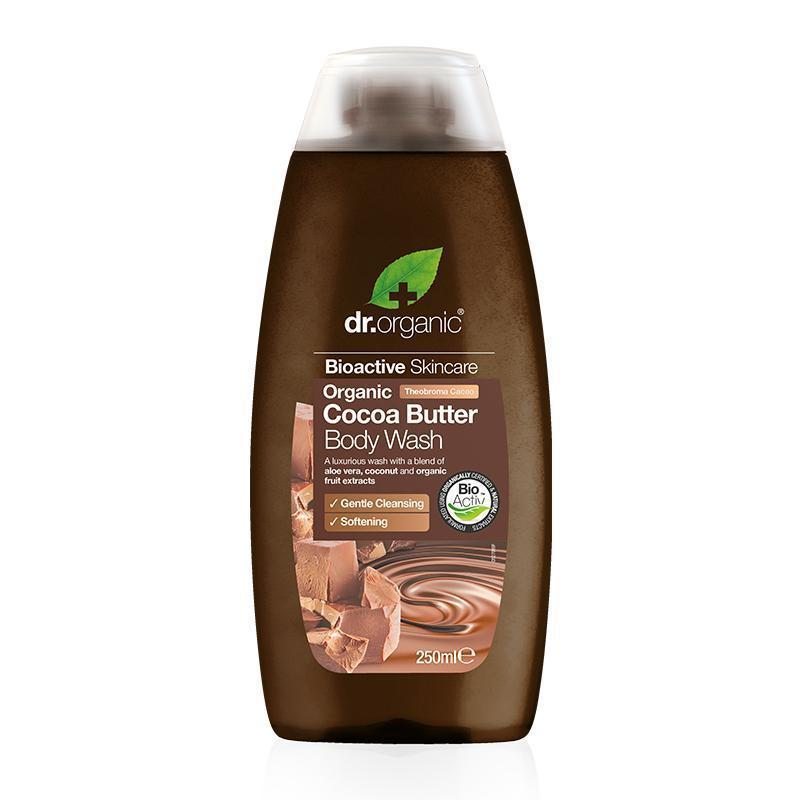 Cocoa Butter Body Wash 250ml - Dr Organic