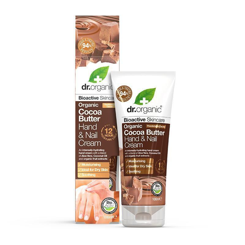 Cocoa Butter Hand & Nail Cream 100ml - Dr Organic