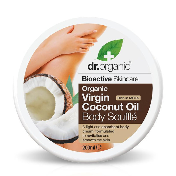 Virgin Coconut Oil Body Souffle 200ml - Dr Organic