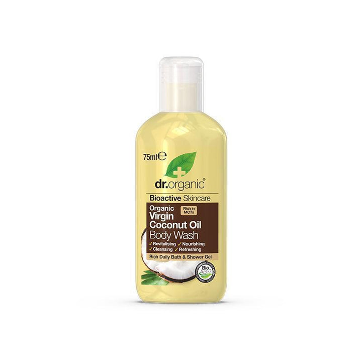 Virgin Coconut Oil Body Wash Travel Size 75ml - Dr Organic