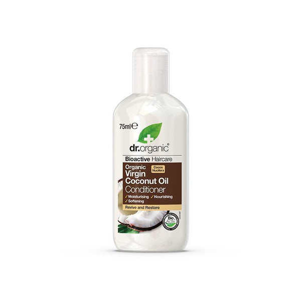 Virgin Coconut Oil Conditioner Travel Size 75ml - Dr Organic