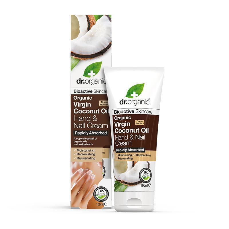Virgin Coconut Oil Hand & Nail Cream 100ml - Dr Organic
