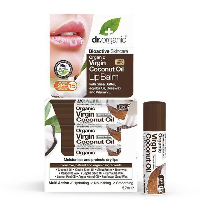 Virgin Coconut Oil Lipbalm 5.7ml - Dr Organic