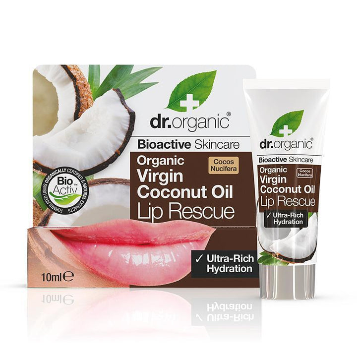 Virgin Coconut Oil Lip Rescue 10ml - Dr Organic