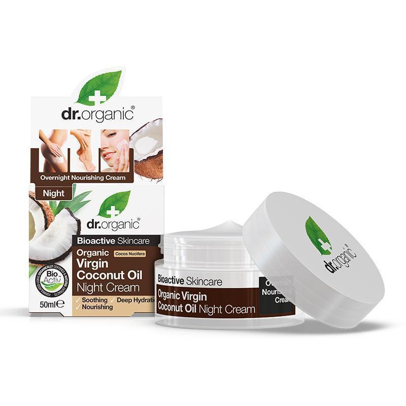 Virgin Coconut Oil Night Cream 50ml - Dr Organic