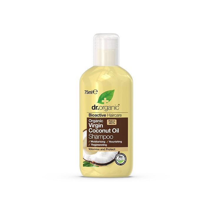 Virgin Coconut Oil Shampoo Travel Size 75ml - Dr Organic