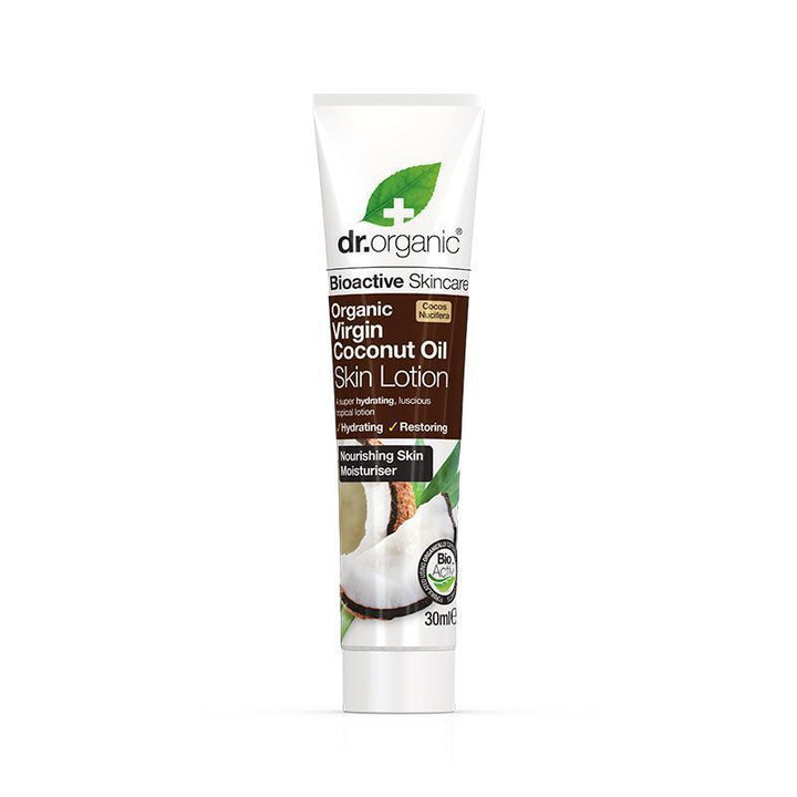 Virgin Coconut Oil Skin Lotion Travel Size 30ml - Dr Organic