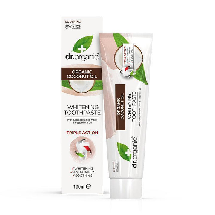 Virgin Coconut Oil Toothpaste 100ml - Dr Organic
