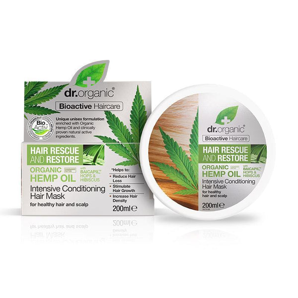Hemp Oil Conditioning Hair Mask 200ml - Dr Organic