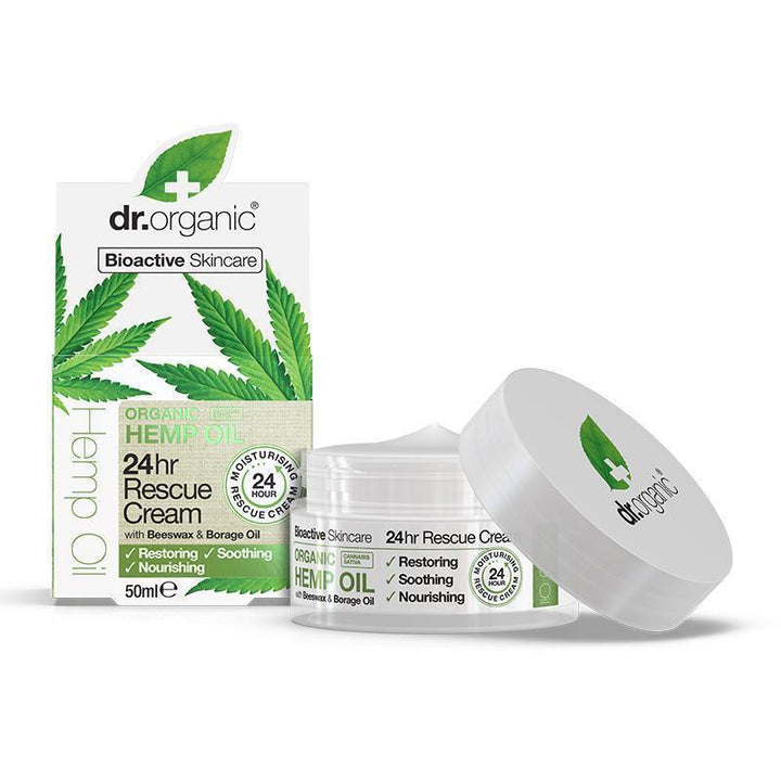 Hemp Oil Rescue Cream 50ml - Dr Organic