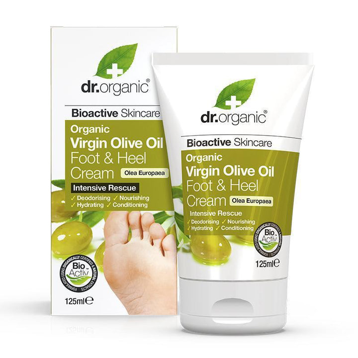 Olive Oil Foot & Heel Cream 125ml - Dr Organic