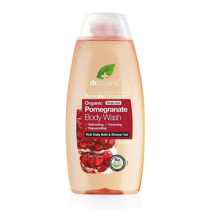 Pomegranate Body Wash 250ml - Dr Organic