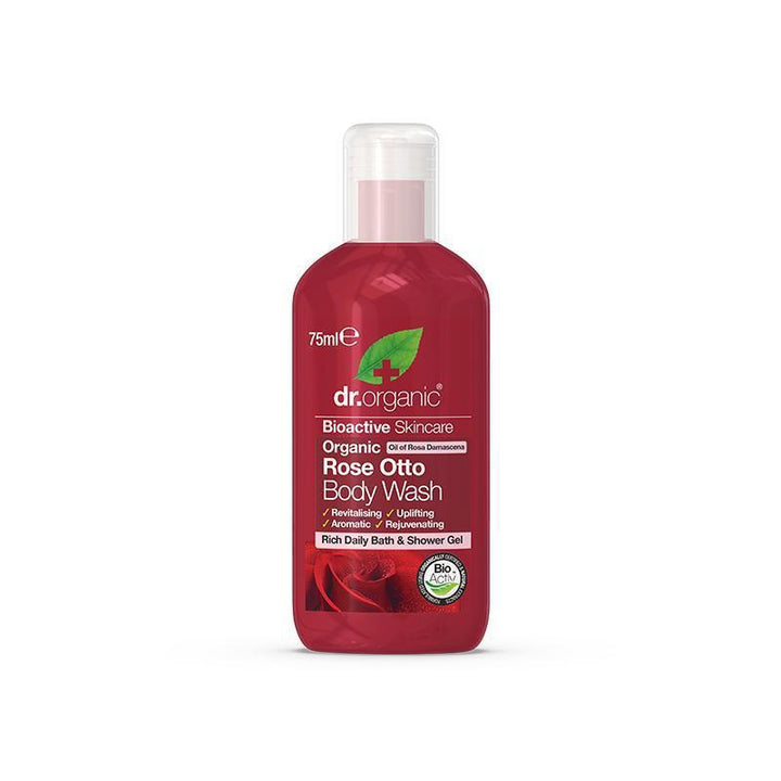 Rose Otto Body Wash Travel Size 75ml - Dr Organic