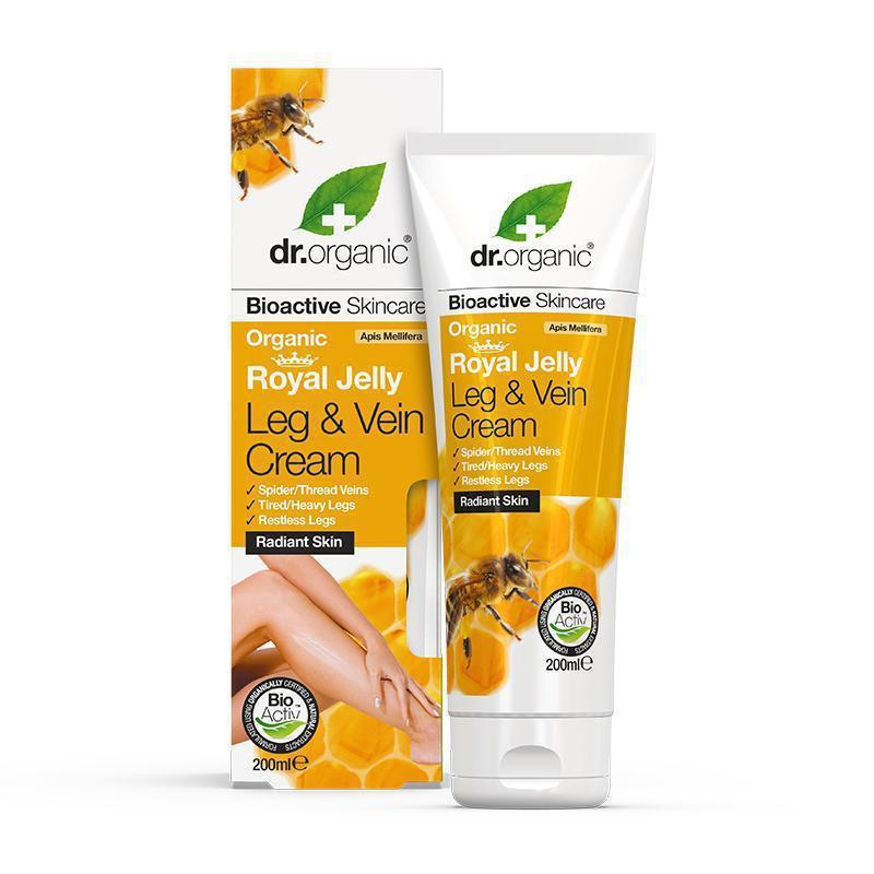 Royal Jelly Leg & Vein Cream 200ml - Dr Organic