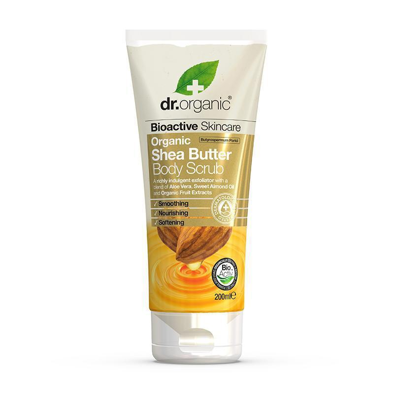 Shea Butter Creamy Body Scrub 200ml - Dr Organic
