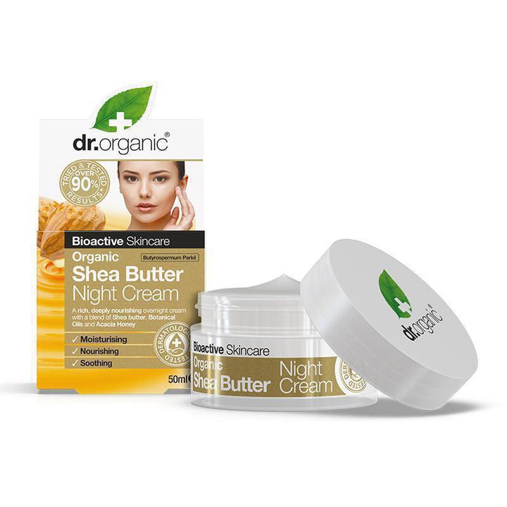 Shea Butter Night Cream 50ml - Dr Organic