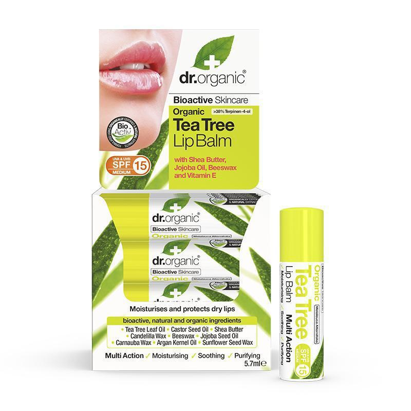 Tea Tree Lipbalm 5.7ml - Dr Organic
